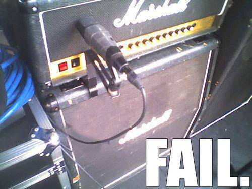 guitar tech fail